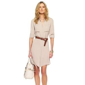 Michael Kors bisque belted shirt dress NEW Medium